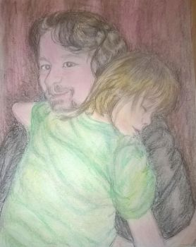 Safe in Daddy's Arms by AmandaFerguson070707