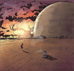 Dome by Dan Schaefer, coloured by Grant Kempster by NeonSkyBooks