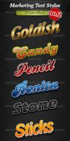 Marketing text styles - Pack 2 by stefusilviu