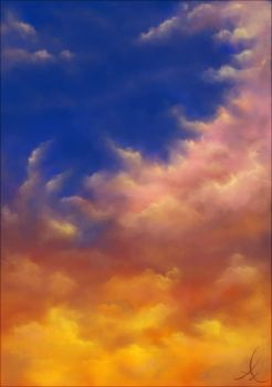 Sketch - Evil sunset clouds by Nehym