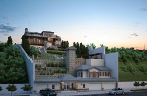 Hills, Sunset and a Villa by sayeh-roshan