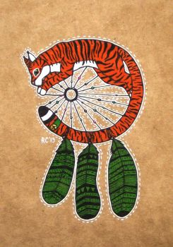 Tiger Dreamcatcher by RedCloudlet