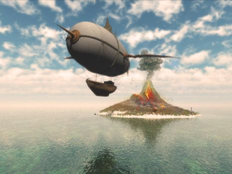 Escape from Volcano by pixi-ugur