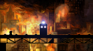 TARDIS in the scenario of the Braid by Phelipefox