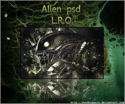 alien psd by WonderPan1c