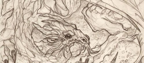 THE HOBBIT - Smaug detail by DenisM79