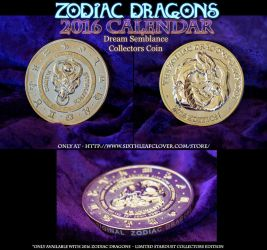 2016 Zodiac Dragons Calendar Collectors Coin by The-SixthLeafClover