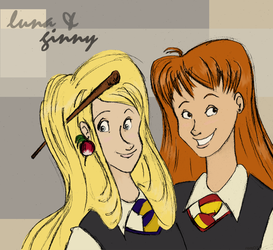Luna and Ginny by zomberger