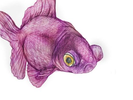 Artisticrender 7 2 Purple Fish By The Big Red Button