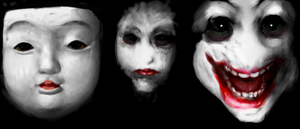 White Faces by moenai-gomi-ningen