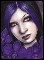 ACEO -- Orchid by ElvenstarArt