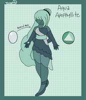 Aqua Apophyllite- Fusion of Sapphire and Moonstone by Thongchan