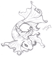 Koi Sketch - Tattoo by Raynekitty