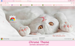 White kitten Google Chrome theme by AnitaLec