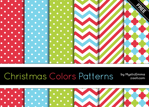Christmas Colors Patterns by MysticEmma