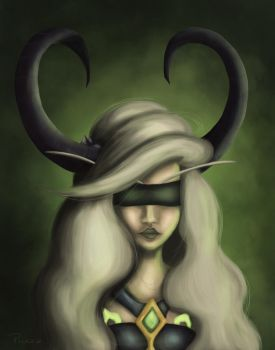 Painting Practice - Demon Hunter by punziebelle