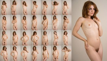 Stock: Nathalia Nude Portrait Poses - 28 Images by stockphotosource