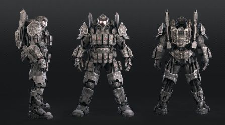 super soldier code name Chimera front back side by Avitus12