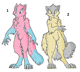 Anthro Foxes adoptables by wolftie76