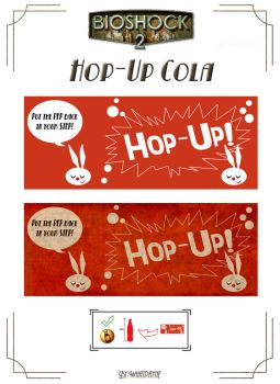 Hop-Up Cola Label by Whatpayne