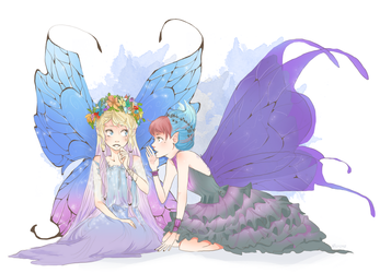 Commission:: Fairies by vanipy05