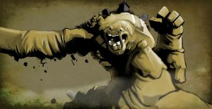 Clayface the living Grave yard by archangel73