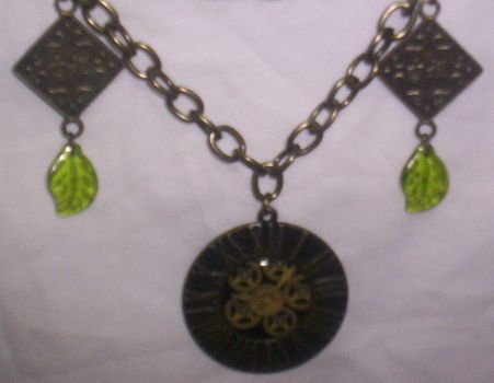 Asian Clock Necklace - new pic by TheBrassApple
