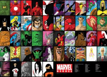 MARVEL POSTER.... by themico