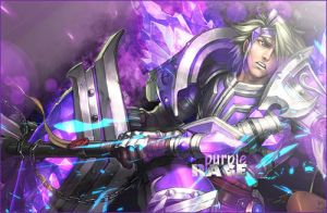 Taric from LoL - Purple Rage by The-CA