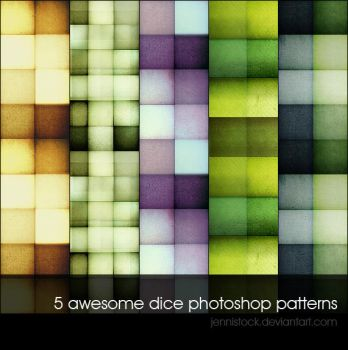 Dice patterns by JenniStock