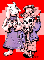 Do You Wanna Have a Good Time (sans, Toriel) by squidbunny