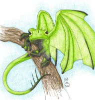 Frog Dragon by Scellanis