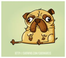 Pug by CarinaReis
