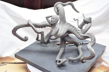 Sculpture: Snatch - Suckers for arms - front by FreakStyleBJD