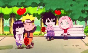 NaruHina SasuSaku happy ending SD! by 777luck777