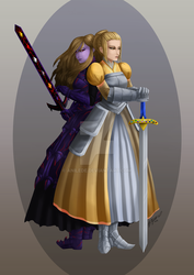 Sisters on Divergent Paths by Anilede