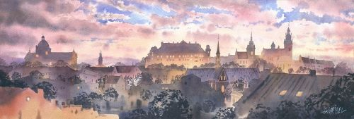 Panorama of Cracow by GreeGW