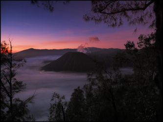 Mount Bromo at Dawn by Talkingdrum