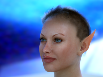 WIP ELF with no name SSS test render hair by MaskDemon