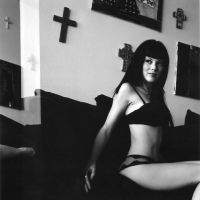 bettie page black and white by candeecampbell