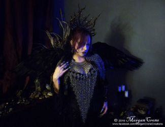 Queen of the Corvids Costume 4 by MorganCrone