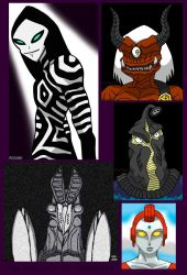 Four Aliens And An Oni by Enshohma