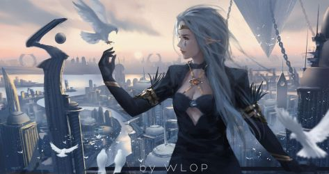 Hometown_dnf by wlop