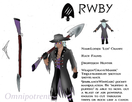 Rwby OC Team Ghul: Loden L. Chaney by Omnipotrent