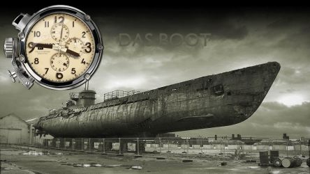 U-Boat Dual Time Clock Yahoo Widget by yereverluvinuncleber