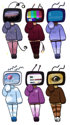 5 point TV Head Adopts OPEN by Russet-Adopts