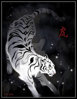 Candle Flies Tiger by FionaHsieh