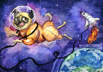 Astropug in space! by TheAstropug