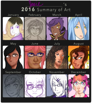 Art Summary 2016 by LyricaLupin