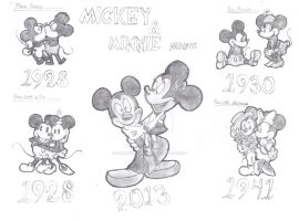 Mickey and Minnie mouse by Darkwolfreaper